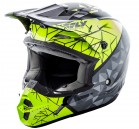 KASK CROSS/ENDURO FLY RACING KINETIC CRUX KOLOR CZARNY/ZIELONY