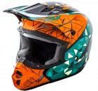 KASK CROSS/ENDURO FLY RACING KINETIC CRUX KOLOR POMARAŃCZ