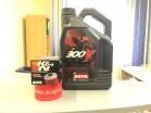 Olej silnikowy Motul 300V 10W40 (syntetyczny, 4 litry) + Filtr K&N GRATIS